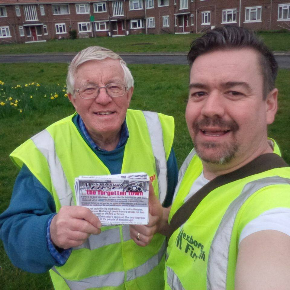 Delivering Mexborough First Leaflets