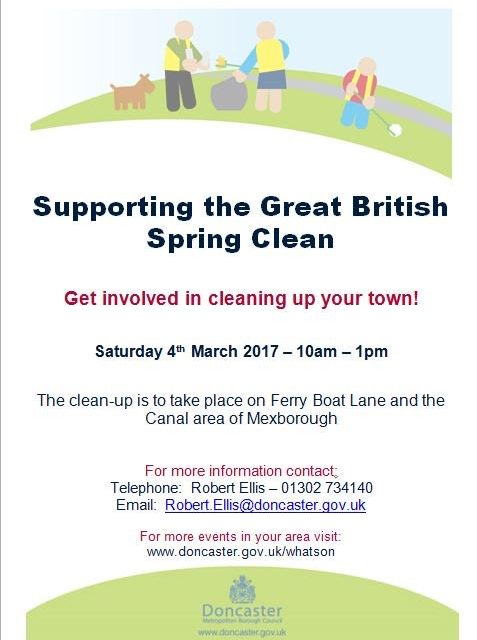 Keep Britain Tidy 'Great British Spring Clean' event taking place 3rd March