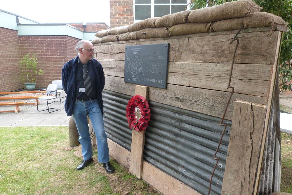 Unveiling of a tribute to VC's with no known graves