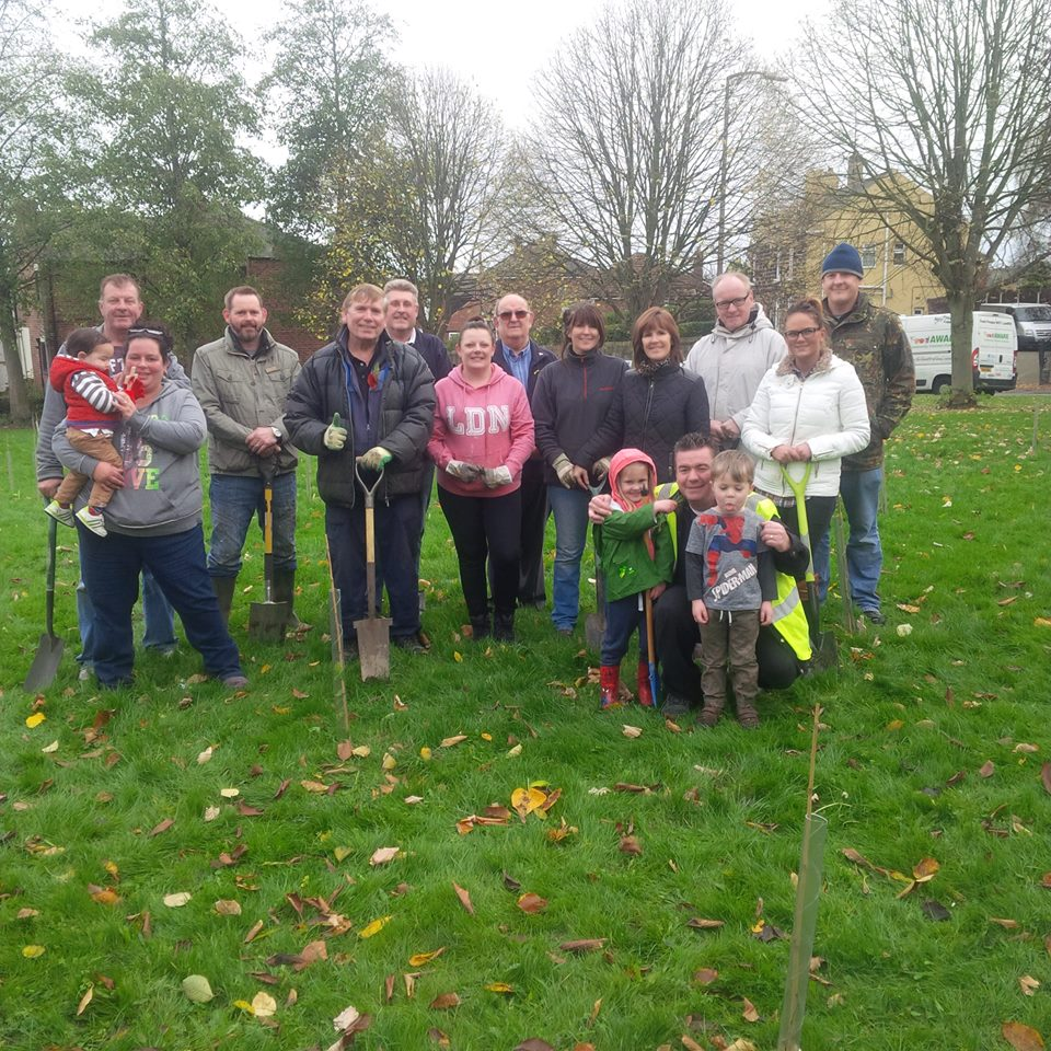 Tree Planting in Memory of the Great War 1914-18