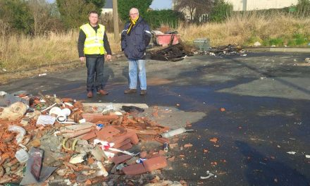 Clearing Fly Tipping on Windhill Site