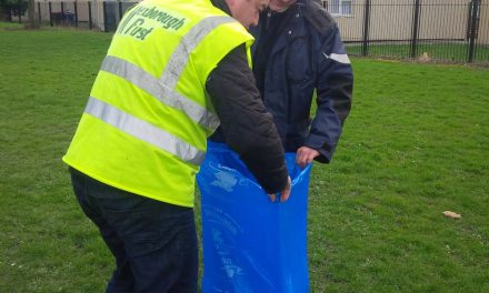 Litter Picking Manvers Park + Discussing Flytipping with Local Residents