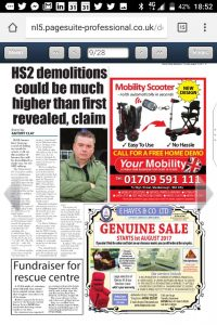 "HS2 ""misleading public"" over Mexborough home demolitions"