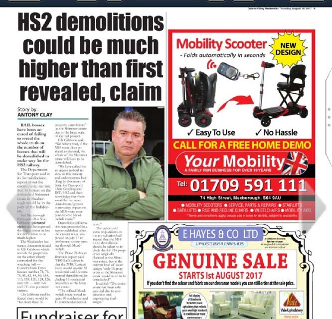 """HS2 """"misleading public"""" over Mexborough home demolitions"""
